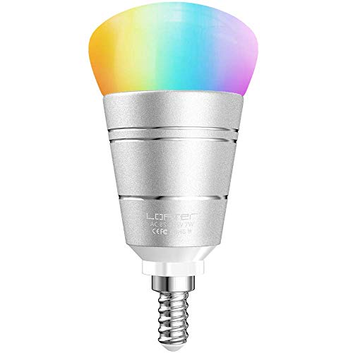 LOFTer Lampadina WiFi E14 Domotica Lampadina Alexa Echo e Google Home Smart Bulb RGB 7W Lampada Smart e Intelligente, Compatibile per Dispositivo iOS e Android