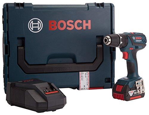 Bosch 0615990HC7 18 V accu-boormachine met klopboorfunctie in LBoxx – groen