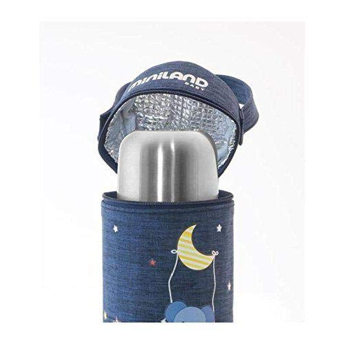 Miniland Baby 89192 THERMIBAG DENIM, 330 ml, blau
