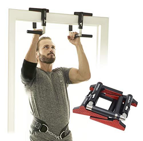 Jayflex Fitness - CrossGrips - Door Pull-up Bar Handles - Doorframe Pullup Bar - Home and Travel Doorway Gym - Smart Clamp Adjustable - Portable