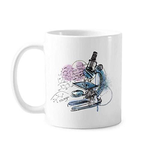 Chemistry Kowledge Microscope Mug Pottery Ceramic Coffee Porcelain Cup Tableware
