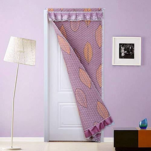 SLM-max Haushalt Winter Baumwolle Tür-Vorhang, Schlafzimmer Wohnzimmer starker warme Windschutzscheibe Kälte Partition Vorhang,Rosa,150×220cm
