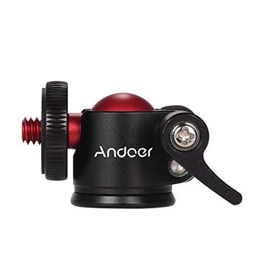 Andoer Mini Stativ Kugelkopf 360 Grad Schwenker für DSLR Kamera