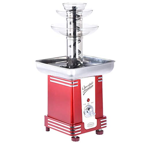 50s-Style 3-Tier Chocolade Fondue Fountain Machine for Birthday Party Wedding Home Kitchen supplies