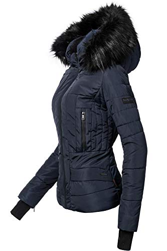 Navahoo Damen Winter Jacke Steppjacke Adele Navy Gr. S