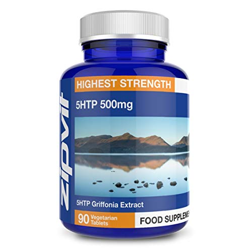 5HTP High Strength 500mg Natural Griffonia Seed Extract, 90 5-HTP Tablets. Suitable for Vegetarians and Vegans.