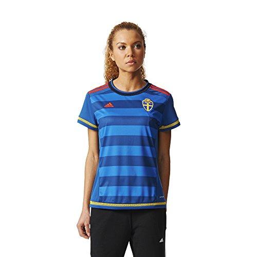 adidas Damen Schweden Auswärtstrikot Replica - blau Trikot, Dmarin/Yellow/Borang, M