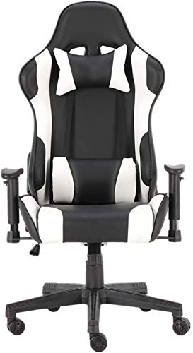 Sedia Girevole Sedia Gaming Sedile ergonomico Sedia del Gioco e da poggiatesta Supporto Lombare PC Racing for Gaming Working mwsoz