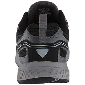 Skechers Men's Go Run Consistent-Performance Running & Walking Shoe Sneaker, Black/Grey, 7 D US