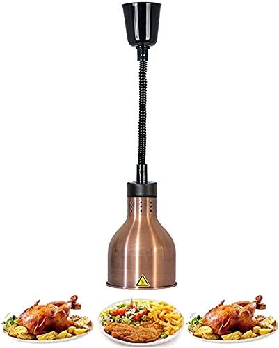 SHUHD Lámpara de calor comercial de alimentos, Pantalla de buffet Calefacción Saving Light 19cm Lámpara Lámpara Lámpara de calentamiento de calor de alimentos con almacenamiento de luz colgante 60-180