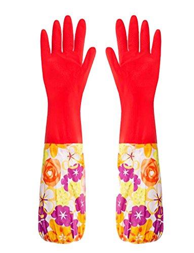 Des gants imperméables Velvet Worm Gants de nettoyage de la vaisselle -04