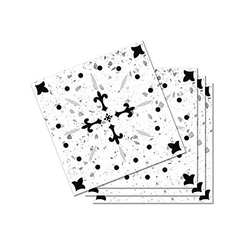 Baldosas de mármol pegatinas piso de la cocina etiqueta adhesiva del papel pintado de baño Auto, Tipo 028, 30cmx30cm 12pzas