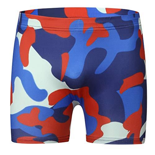 Krissy Herren Boxershorts Herren Camouflage Retroshorts, Unterhosen, Boxer Boxershorts Herren Unterwäsche Unterhosen Männer Retroshorts Boxer Niedrigtaille Weich Unterwäsche