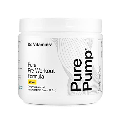 Do Vitamins PurePump Natural Pre-Workout Supplement, Clean Pre-Workout Supplement for Men and Women, Lemon