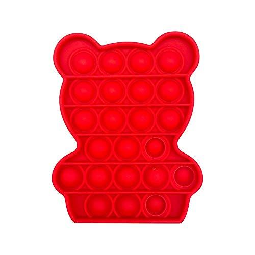 FUNSHINNY Juguete sensorial Push Pops Bubble Juguetes para el autismo Necesidades Squishy Aliviador del estrés Juguetes Adulto Niño Divertido Anti-estrés Pops It Fidget Aliviador del estrés (Color: T)
