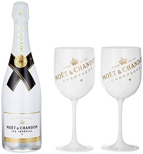 Moët & Chandon Moët & Chandon Champagne ICE IMPÉRIAL Demi-Sec 12% Volume 0.75 l in Geschenkbox mit 2 Gläsern Champagner