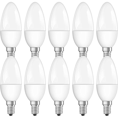 Osram Neolux Cl 40 Bombilla LED E14, 5.7 W, Blanco, 10.6x3.5x3.5 cm, 10 Unidades
