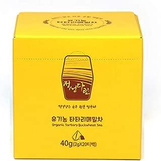 [Odaesan Food] Organic Tartary Buckwheat Tea, 2g X 20Pyramid Teabags, KOREAN ORGANIC TARTARY BUCKWHEAT 100%, Caffeine-Free