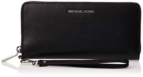 Michael Kors Travel Continental 32S5STVE9L_Black_Black Portefeuille pour Femme Noir (Black 001)