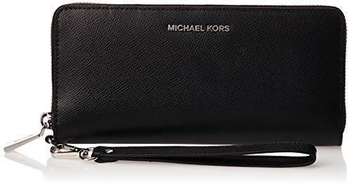 Michael Kors Damen Travel Continental 32S5STVE9L_Black_Black Geldbörse, Schwarz (Black 001)