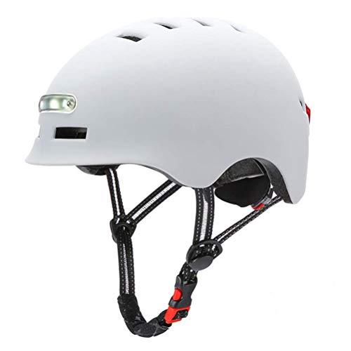 Delaspe Fahrradhelm Verstellbarer Fahrradhelm mit LED-Licht für Fahrrad-Balance-Fahrrad-Skateboard