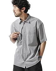 ナノ・ユニバース(nano・universe) シームレス レギュラーカラーシャツ 半袖