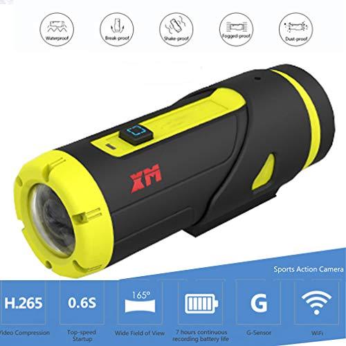 CarDVR Sport-actiecamera H.265 wifi/3400mAh/high-speed start/G-sensor/1080p/waterdichte 165 ° groothoek-camcorder draadloze afstandsbediening, camera