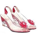 Sandalias de cuña para Mujer Zapatillas de Boca de Pescado Transparentes Zapatos de gelatina sin...