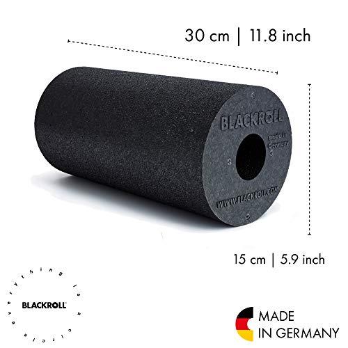 BLACKROLL STANDARD Faszienrolle – das Original (Härtegrad mittel) – Selbstmassage-Rolle für die Faszien in schwarz + Booklet - 3