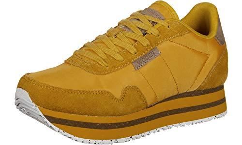 Woden Sneakers Nora II Plateau, 096 Mango, 39 EU