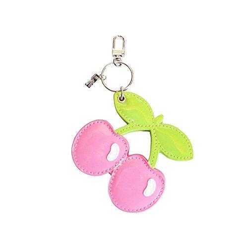 PACHA: Rosa Kirsche Schlüsselanhänger mit Kompaktspiegel - Pink, Einheitsgröße