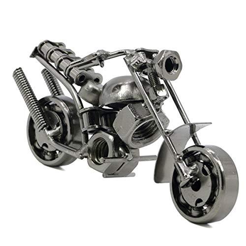 YeahiBaby Eisen Motorradmodell Bronze Ton Metall Antikes Motorrad Modell für Wohnkultur Geschenk (Schwarz)