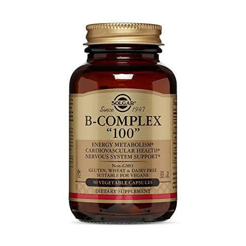 Solgar Vitamin B-Complex '100' Extra High Potency Vegetable Capsules - Pack of 50