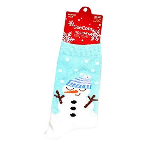 SHE.White Unisex Weihnachtssocken Socken Bunt, Baumwolle Socken Herren Damen, Gemusterte Socken Muster Lustige Socken, Modische Socken Mehrfarbig Klassisch Baumwolle