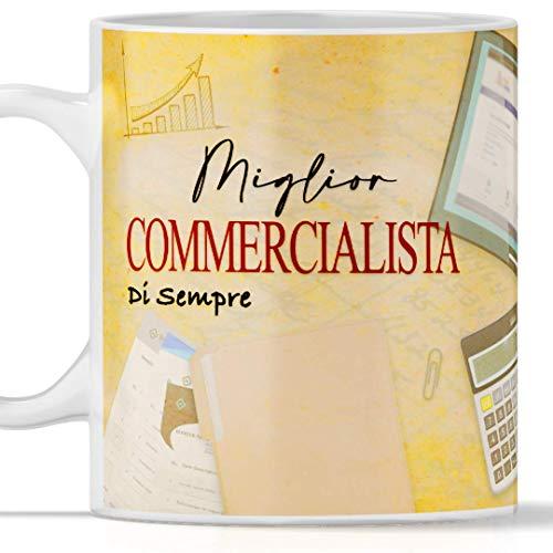 Taza comercial impresa completamente apta para desayuno, té, tés, tés, café o capuchino. Ideal también como regalo de graduación. Economía comercial. Original y con gran efecto en cada lado.