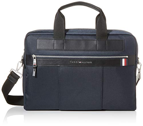 Tommy Hilfiger Herren Elevated Nylon Computer Bag Laptop Tasche, Blau (Sky Captain), 1x1x1 cm