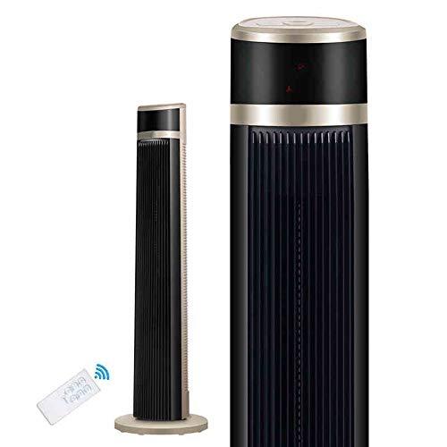 YUYI Climatizadores evaporativos Ventilador, Torre oscilante Ventilador con Pantalla LED, Control Remoto, 3 velocidades y Modos silenciosos, Temporizador programado 7h para el hogar y la Oficina Vent
