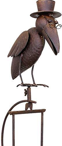 Pommerntraum ®   Vogelwippe   Windspiel   Gartenstecker   Gartendekoration   Gartenkunst   Metall   *** Prof. Dr. Rabe **** Vogel Vögel Raben (dünner Rabe)