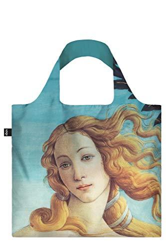 SANDRO BOTTICELLI, The birth of Venus (Corrected Colour). Bag: LOQI BAG: Ich wiege 55 g. Ich kann 20 kg tragen. Ich bin wasserabweisend und waschbar. OEKO-TEX® zertifiziert und aus Polyester., 0, Blue