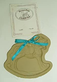 1986 Brown Bag Cookie Art Mold - Rocking Horse