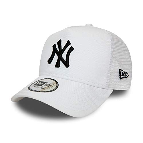 New Era York Yankees MLB Cap Kappe Baseball Trucker Verstellbar Weiss - One-Size