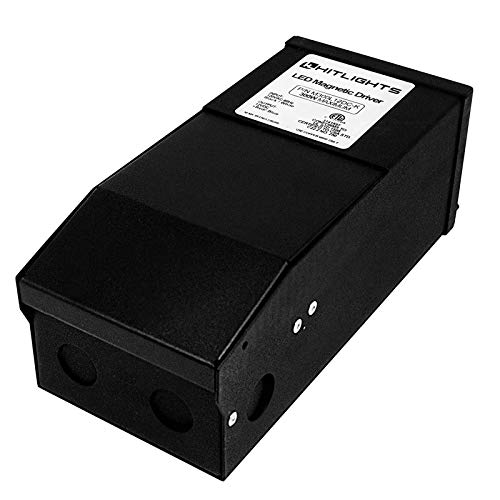 HitLights 300 Watt Dimmable Driver, Magnetic LED Driver - 110V AC-24V DC Transformer. Made in The USA. Compatible with Leviton for LED Strip Lights, Constant Voltage LED Products