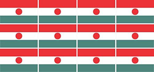 Mini Aufkleber Set - Pack glatt - 50x31mm - Sticker - Niger - Flagge - Banner - Standarte fürs Auto, Büro, zu Hause & die Schule - 12 Stück