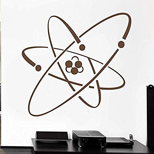 Wall Sticker Art Home Stickers Room Decor Atom Electron Science Vinile S Chimica Nuclear Physi 59X56Cm