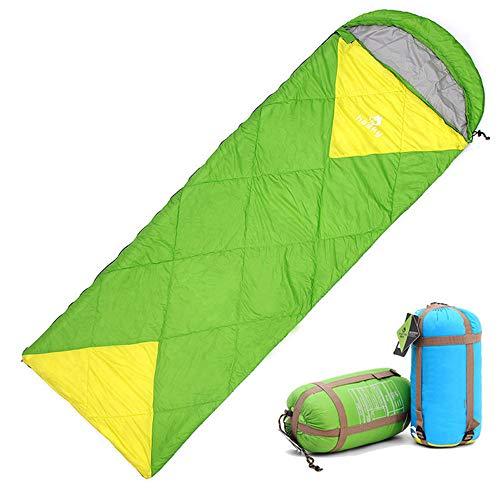 Sac De Couchage Adultes Sac de couchage portable léger Envelope, bonne idée pour voyager, camping, randonnée, activités de plein air Escalade étanche Isolation Thermique Camping ( Color : Green )