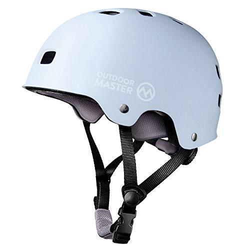 OUTDOORMASTER 自転車ヘルメット スポーツ CPSC安全規格 ASTM安全規格 子供大人兼用 S スカイブルー