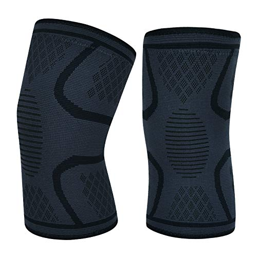2 Pack Knee Compression Sleeves,Knee Brace for Arthritis, ACL, MCL and Meniscus Tear, Knee Braces Support Jogging, Sports, Joint Pain Relief, Arthritis & Injury Recovery for Men & Women (BLACK, Small)