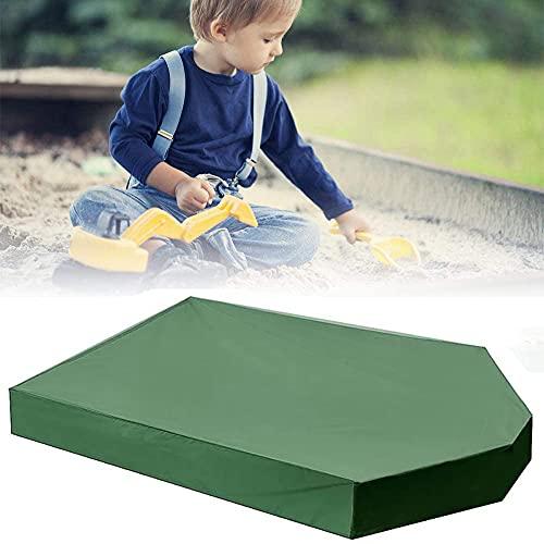 JJIIEE Capa de lona de brinquedo infantil, capa de caixa de areia em formato de barco com cordão, capa protetora de piscina à prova d'água para jardim de praia (16011322 cm), verde