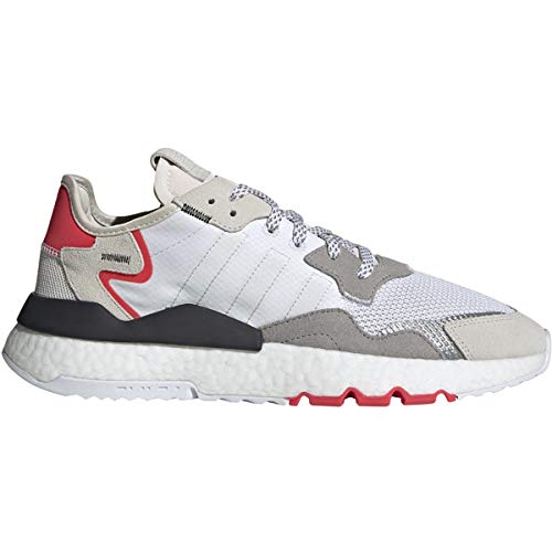 adidas Men's Questar Flow Track Shoe (Cloud White/Crystal White/Shock Red, Numeric_10_Point_5)