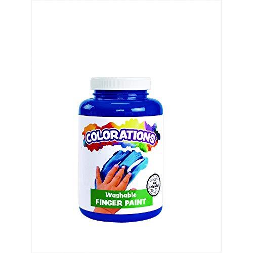 Colorations CWFBL Washable Finger Paint, Blue - 16 oz.